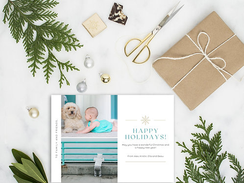 Personalized Holiday Card- Modern