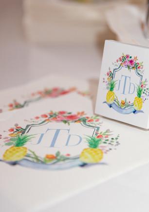 Naples Wedding Matches and Napkins