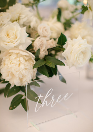 Naples Wedding Table Numbers
