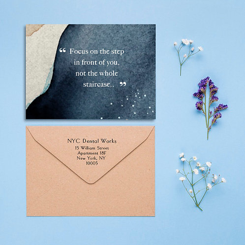 Business Appreciation Cards - Blue