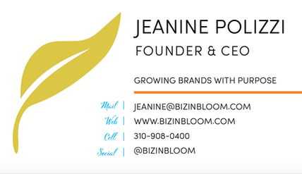 Biz in Bloom business card