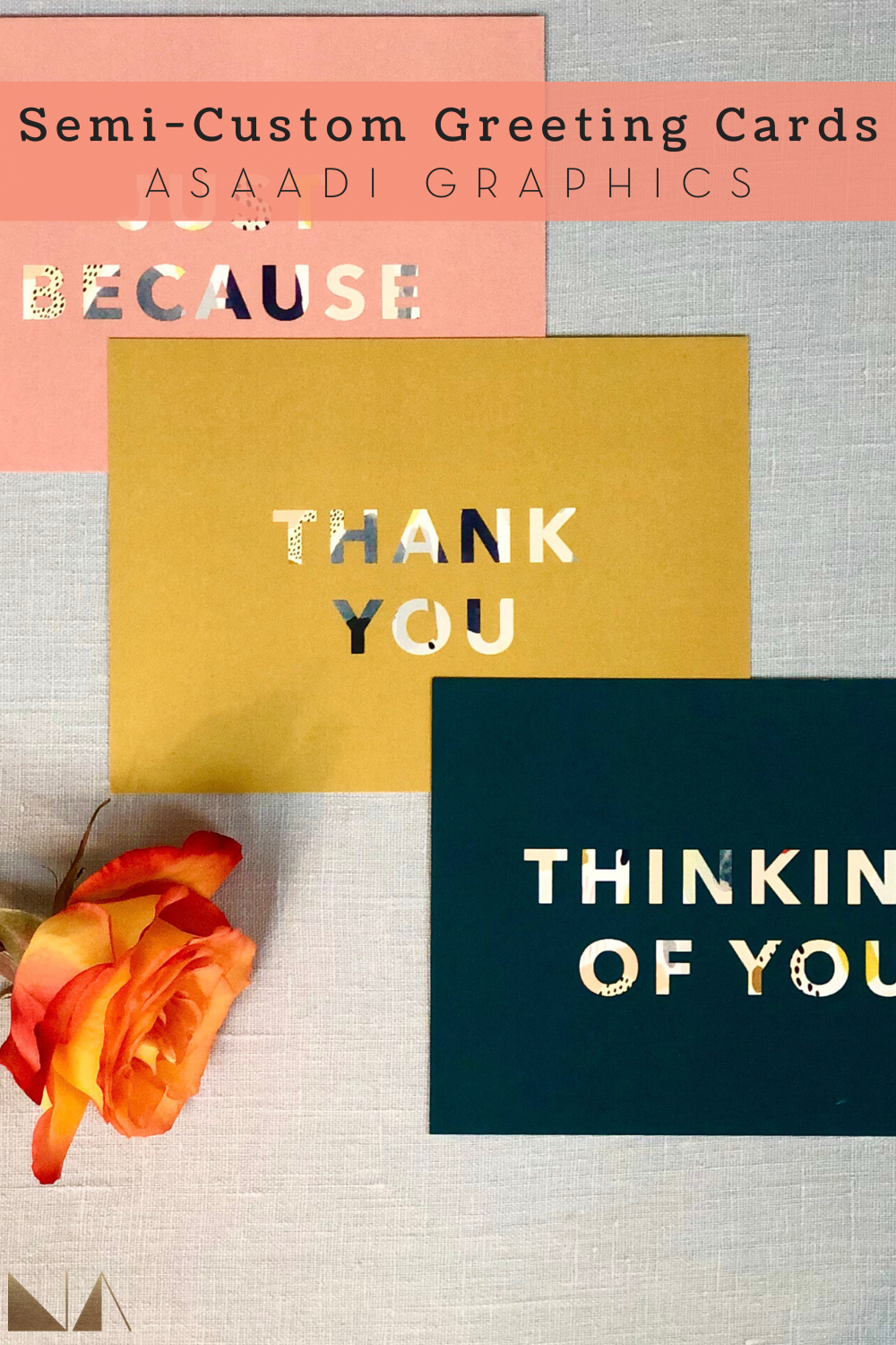 Semi-Custom Greeting Cards | Our Greeting Card Set is semi-customizable. Our designed are pre-made and after your purchase, we will print your signature on the back of the card to give in a personal touch.