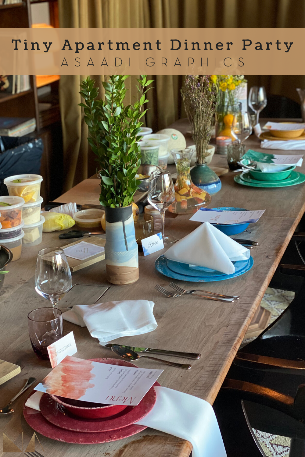 Tiny Apartment Dinner Party | Your GO-TO guide for hosting a classy, intimate dinner party when space is lacking.
