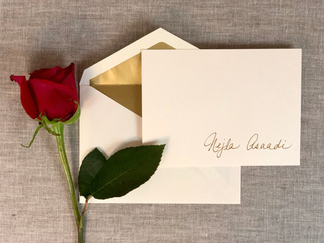 Personalized Stationery with Foil