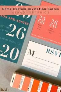 Semi-Custom Invitation Suites | Choose from our collection of 5 suites and discover the one that matches your vision and style. From there, I will personalize it with all your information. No detail is forgotten.
