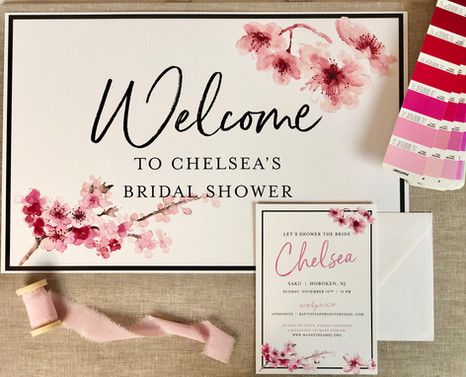 Bridal Shower Invite and Welcome Board