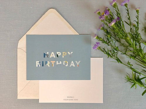 Happy Birthday Cards and Envelopes