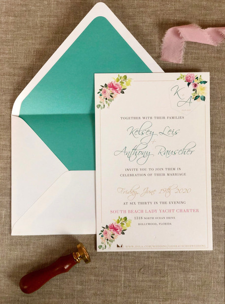 Florida Wedding Invite