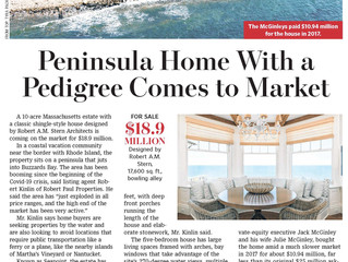 Peninsula Home with a Pedigree Comes to Market