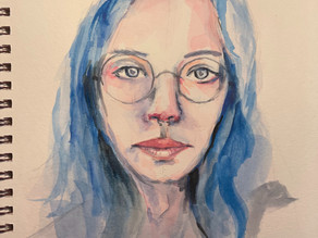 Day 5/100 Watercolor Portrait