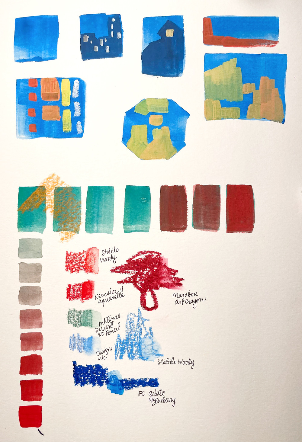 Blue Thumbnails and Color Swatches
