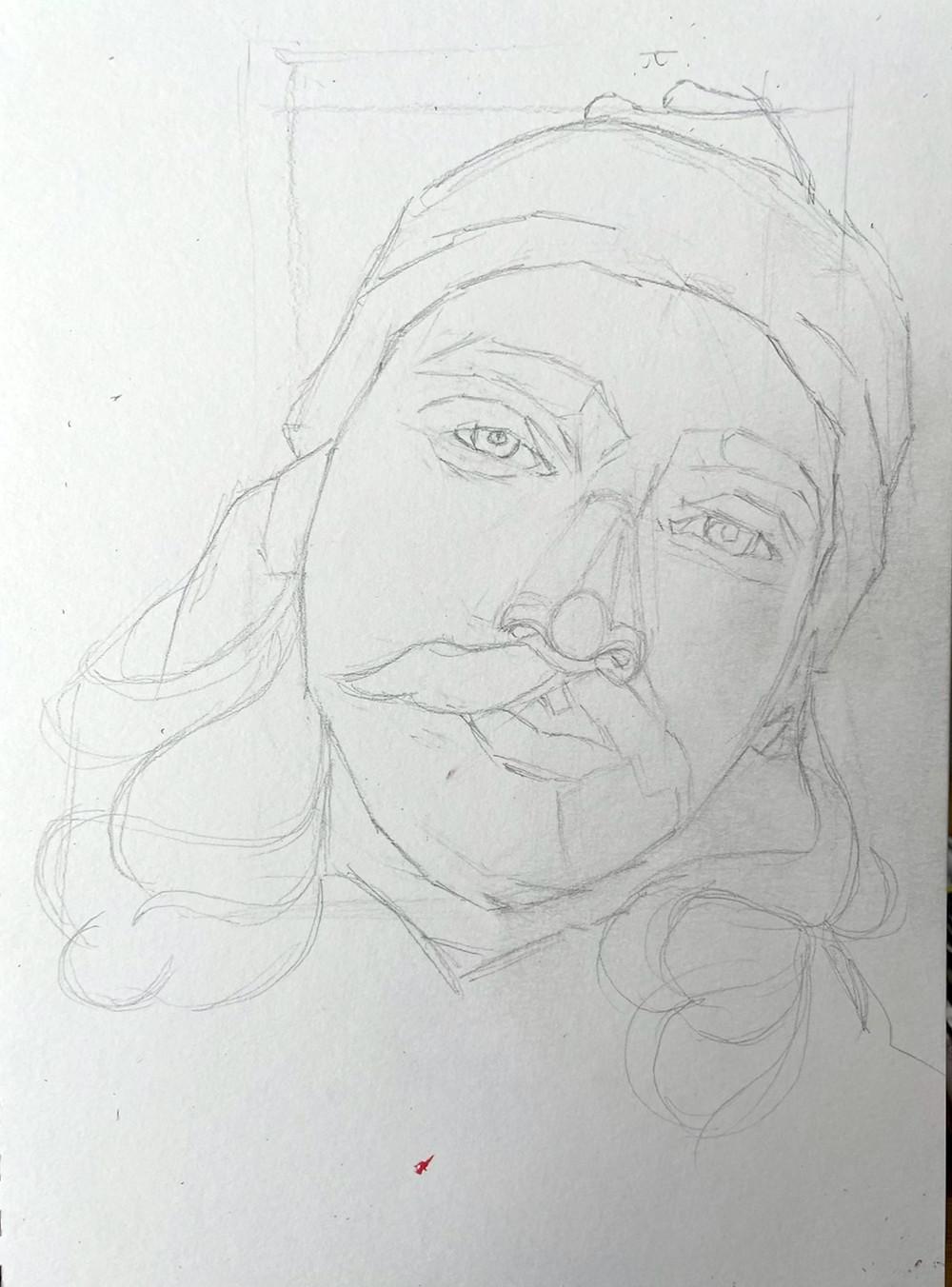 9x12 graphite on paper