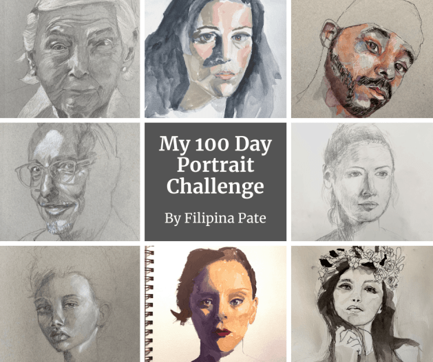 My 100 Day Portrait Challenge by Filipina Pate
