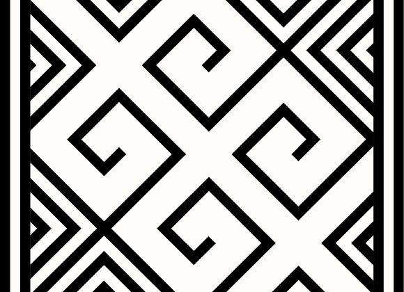 GEOMETRIC BLACK & WHITE 90'