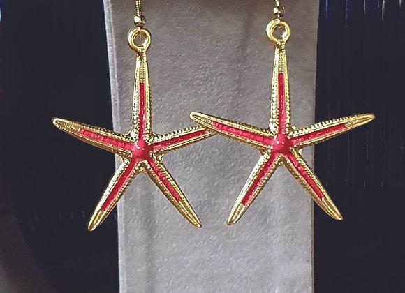 SEA STAR EARRING IN RED