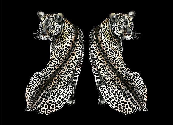 LEOPARD BACK VELVET CUSHION COVER
