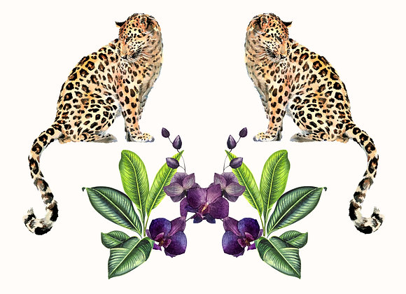 LEOPARD PURPLE ORCHID VELVET CUSHION COVER