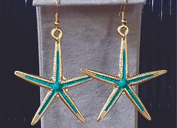 SEA STAR EARRING IN GARDEN PATINA