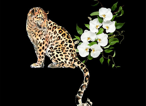 LEOPARD ORCHID VELVET CUSHION COVER