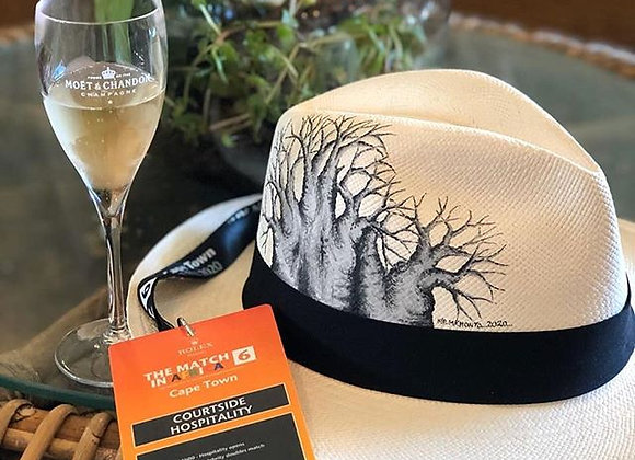 "HIS PERSONALIZED PANAMA HAT BAOBAB DESIGN ""Tree of Life"""