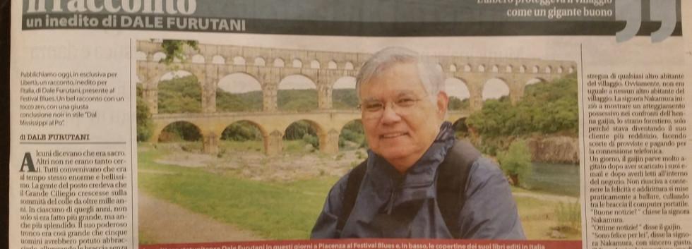 Italian newspaper clipping