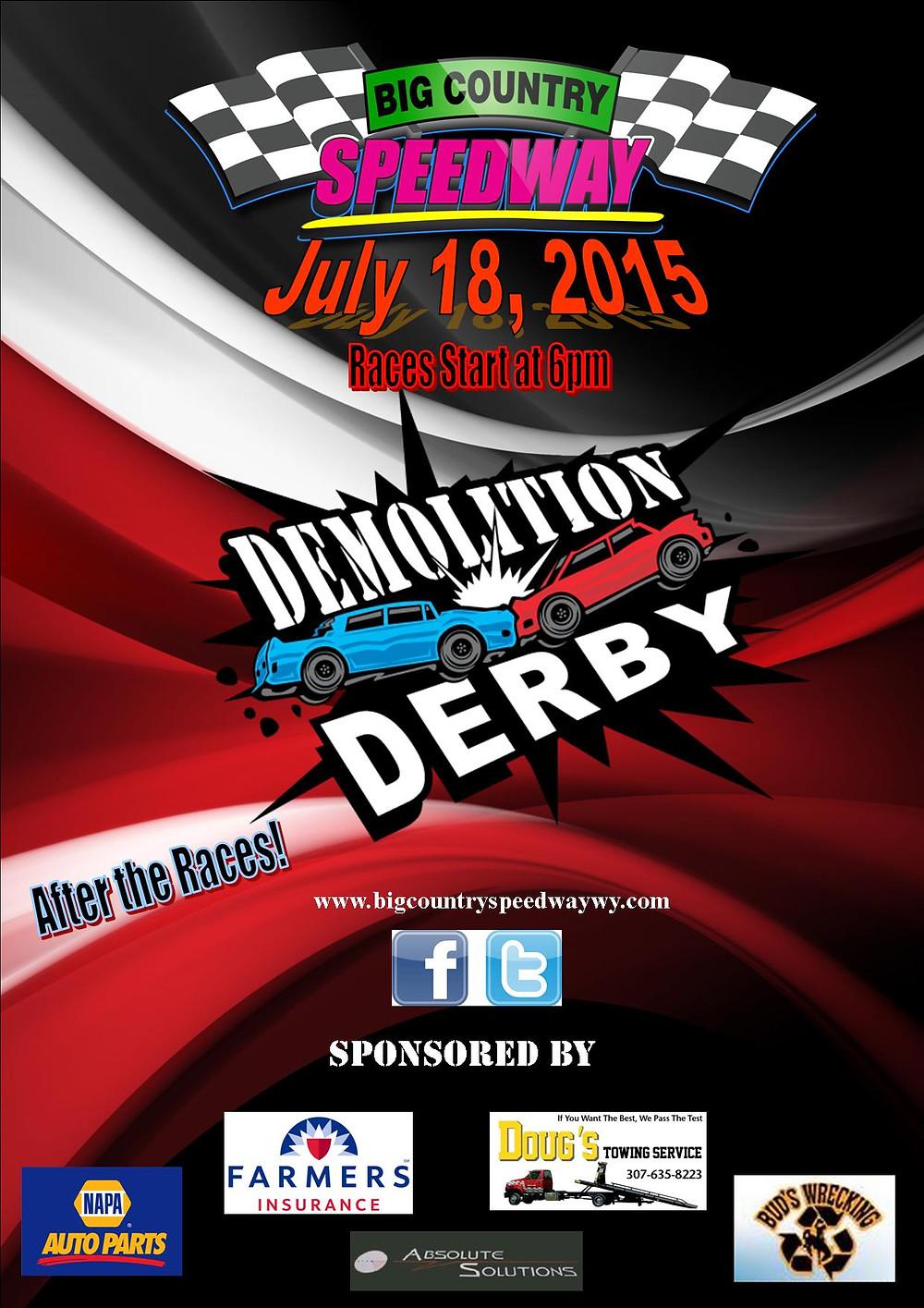 Big Country Speedway Demo Derby