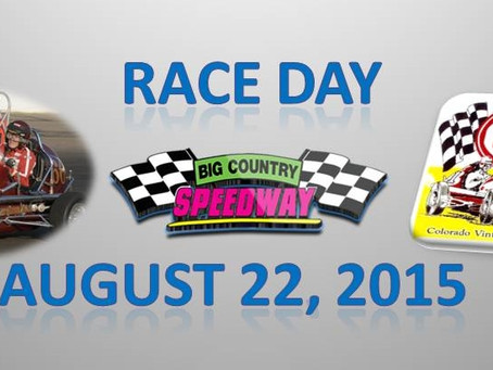 Race Day- August 22nd- Featuring the Colorado Vintage Oval Racers