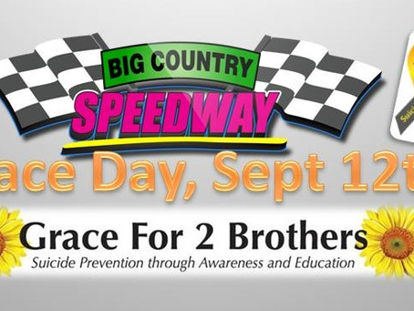 Grace For 2 Brothers Featured Guest for Sept 12th Races