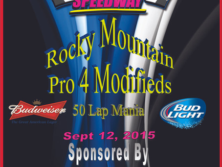 Pro 4 Modified Mania Money Race- Sept 12, 2015