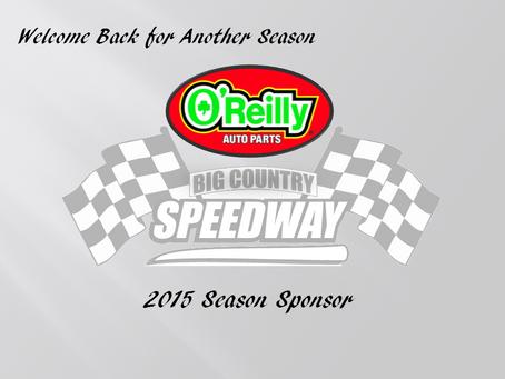 O'Reilly Returns as Season Sponsor for 2015