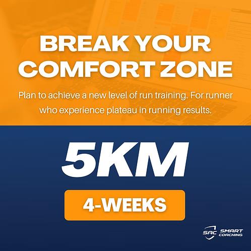 Break Your Comfort Zone | 5km (4 Weeks Plan)