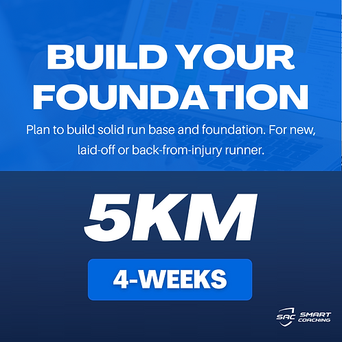 Build Your Foundation | 5km (4 Weeks Plan)