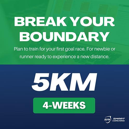 Break Your Boundary | 5km (4 Weeks Plan)