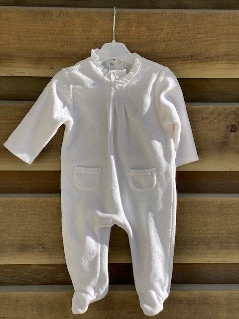 pyjama velours blanc