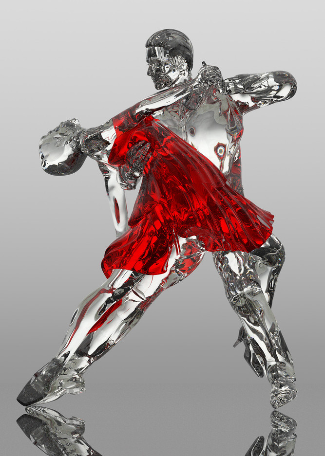Tango Dancers - Red Dress