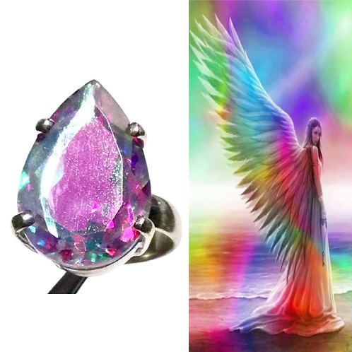Angel Andara Ring With Authenticity Card, Connect To All Archangels At Once