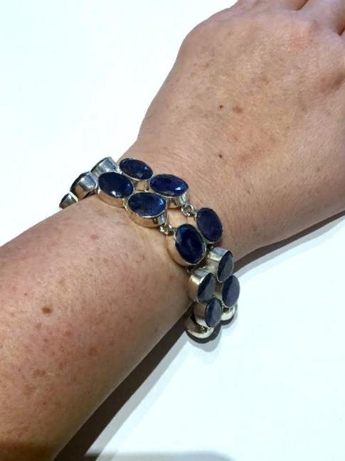 Sapphire Bracelet: Indigo Adult Healing, Balancing. Find Life Purpose