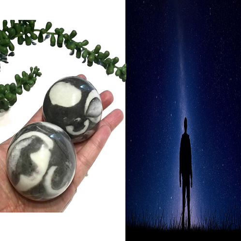 Thousand Eye Jasper Crystal Ball. Anchors Starseeds To Earth.  Aids Anxiety,