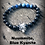 Thumbnail: Indigo Adult Nuummite and Blue Kyanite Wolf Bracelet: Transmute Energy, Find You