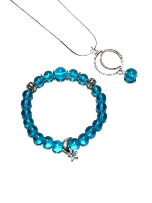 Andara Bracelet with Moon Necklace.  Stargate to Arcturian Council
