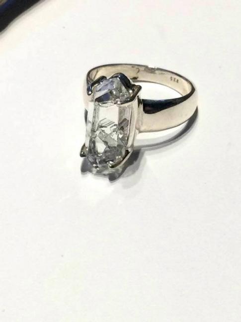 Herkimer Diamond Ring, Gemstone Ring Sterling Silver Ring
