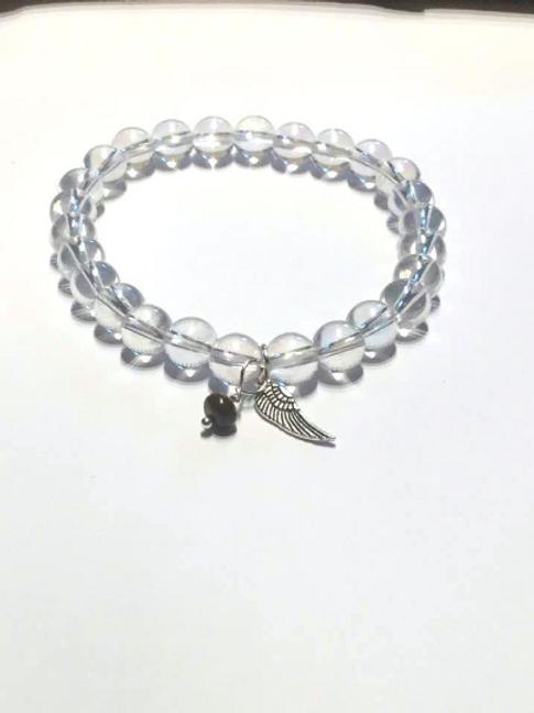 Angel Aura Bracelet with Sugilite. Archangel Michael Crystal Healing Bracelet...