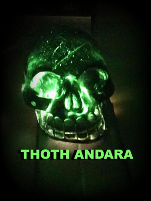 Andara Skull. THOTH ANDARA SKULL.  Authenticity Cards,  Emerald Tablets Of THOTH