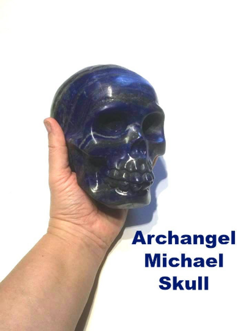 Lapis Lazuli Skull Holding The Energy of Archangel Michael at The Michael Vortex