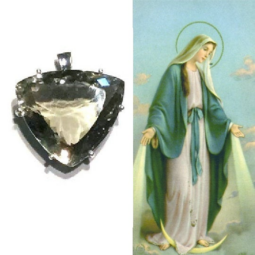 Green Amethyst Pendant: Encoded To Hold Energy Of Ascend