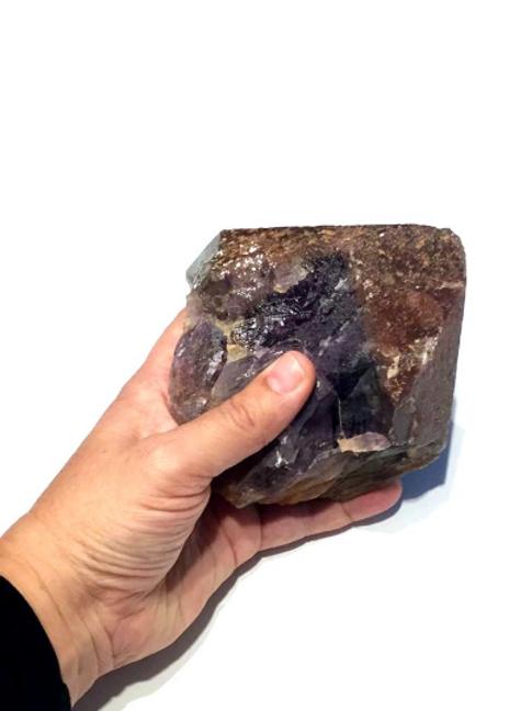 Auralite  Crystal  XL Piece. Authenticity Card, Thunder Bay Amethyst