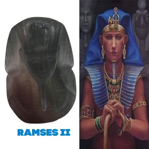 RAMSES II  Crystal Statue. Fluorite  Egyptian Statue of Symbol of Goddess Wadjet