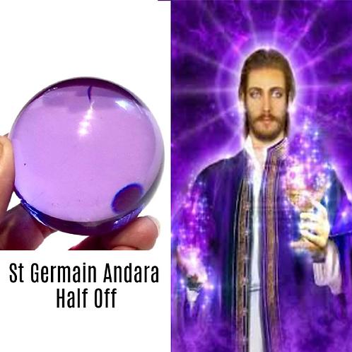 Andara Crystal Ball Attuned To Energy Of St. Germain.