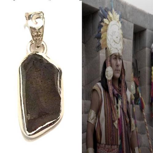 "Columbianite Necklace. Tektite. ""STONE OF LIGHT"" Rarer than Moldavite. Sacred St"