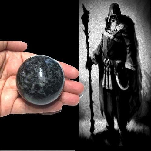 Merlinite Sphere: High Grade Indigo Gabbro, Stone of Magic, Increase Intuition